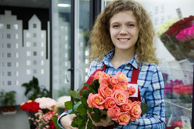 Lady with Flowers Background Image - eBuilt Business